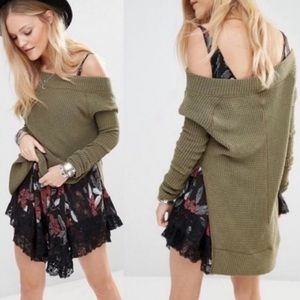 Free People Kate Thermal Tunic / XS /Olive Green